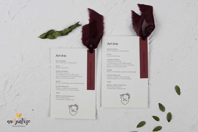 burgundy menu