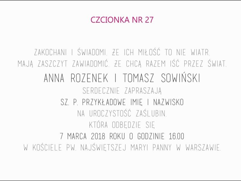 czcionka nr 27