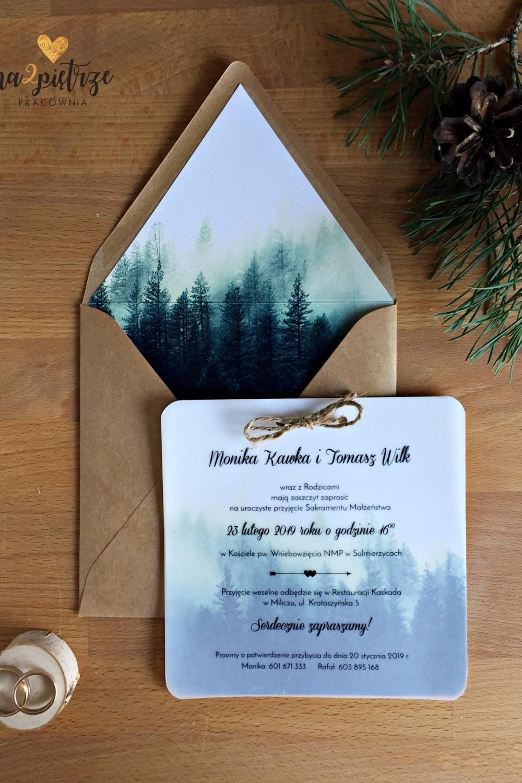 zaproszenie zimowy las