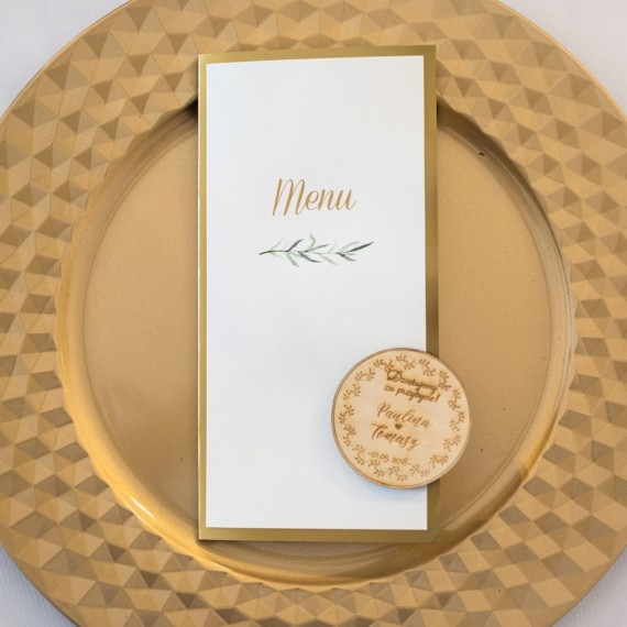 menu weselne, składana karta