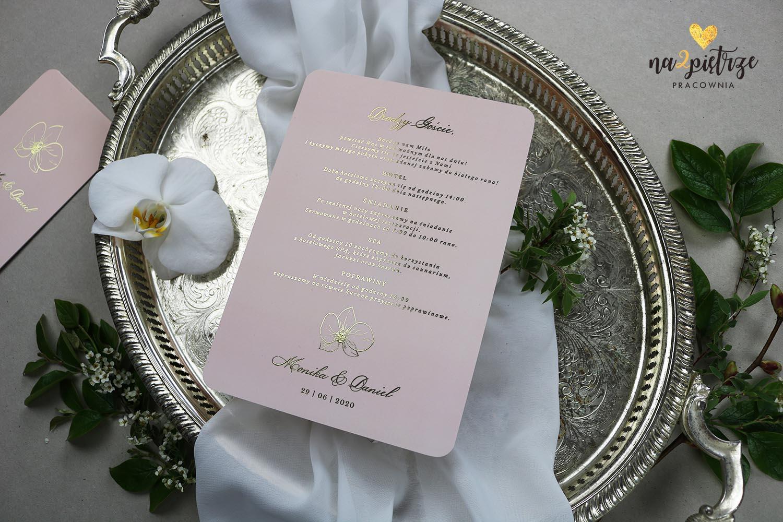 karta powitalna dla gości