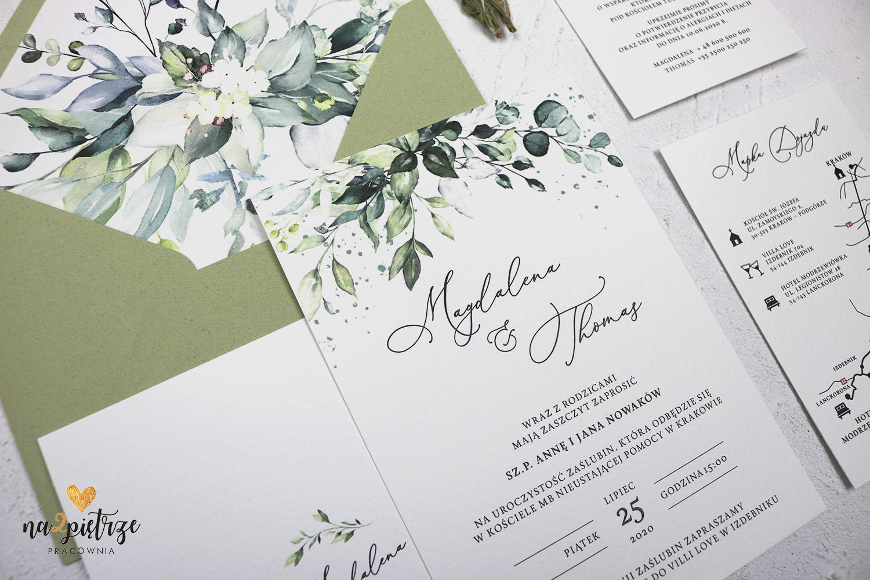 jdnokartkowe eukaliptusowe zaproszenia