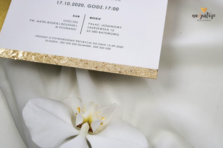 złota krawędź zaproszenia